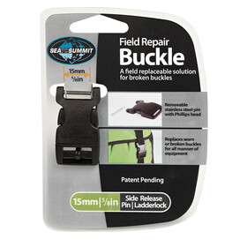 Sea to Summit Field Repair Buckle - Sangle - 15mm, Side Release, 1 Pin noir